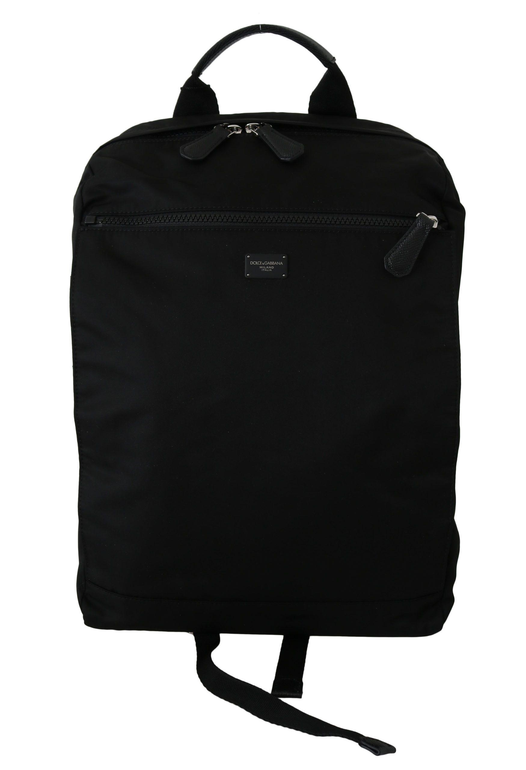 Dolce & Gabbana Men's School Travel Backpack Black VAS8795
