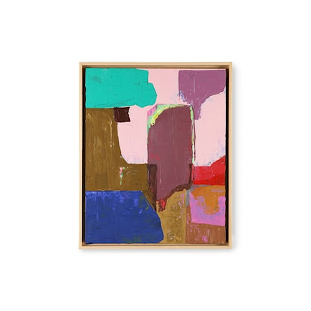 Abstract Målning Multicolour 40x50cm