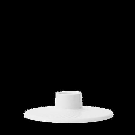 Rhombe Lysestake Ø10,5 cm Hvit Porselen