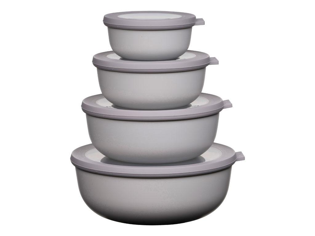 Mepal - Cirqula Low Bowl Set Of 4 - Nordic White (233103)