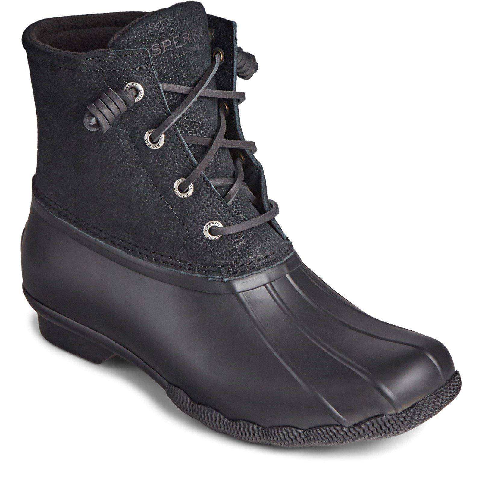 Sperry Women's Saltwater Mid Boot Black 32236 - Black 7