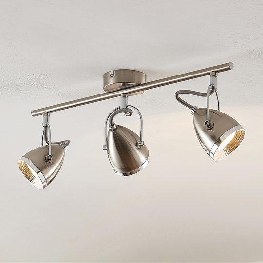 Lindby Jadon LED -kattovalaisin nikkeli, 3-lamp.