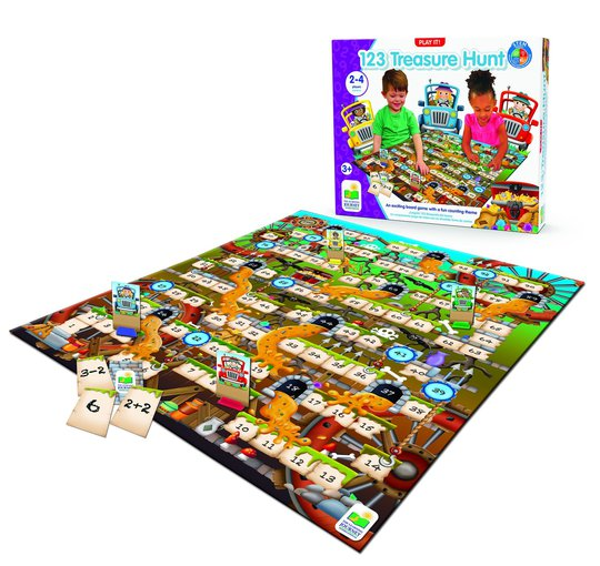 The Learning Journey Spill Play It Game 123 Treasure Hunt