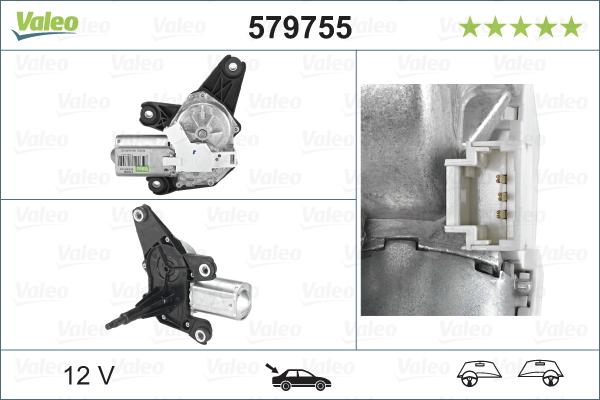 Pyyhkijän moottori VALEO 579755