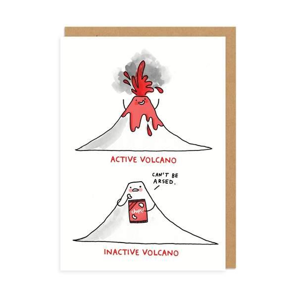 Inactive Volcano Greeting Card