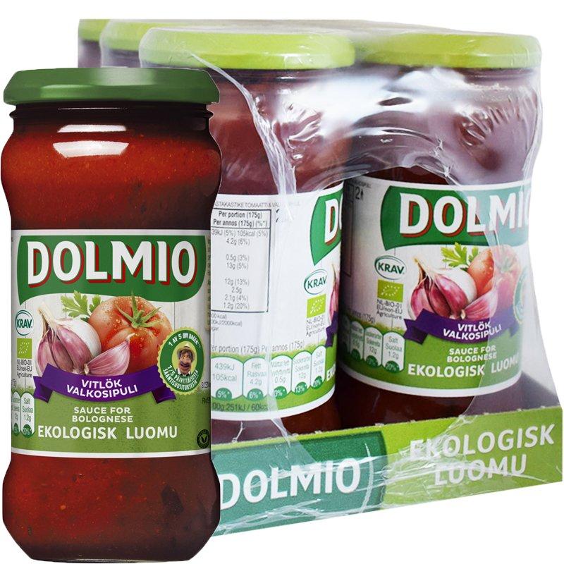 Laatikollinen Luomu Tomaattivalkosipulikastiketta 6 x 350g - 35% alennus