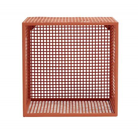 WIRE Metallveggstativ 32x32cm Terrakotta