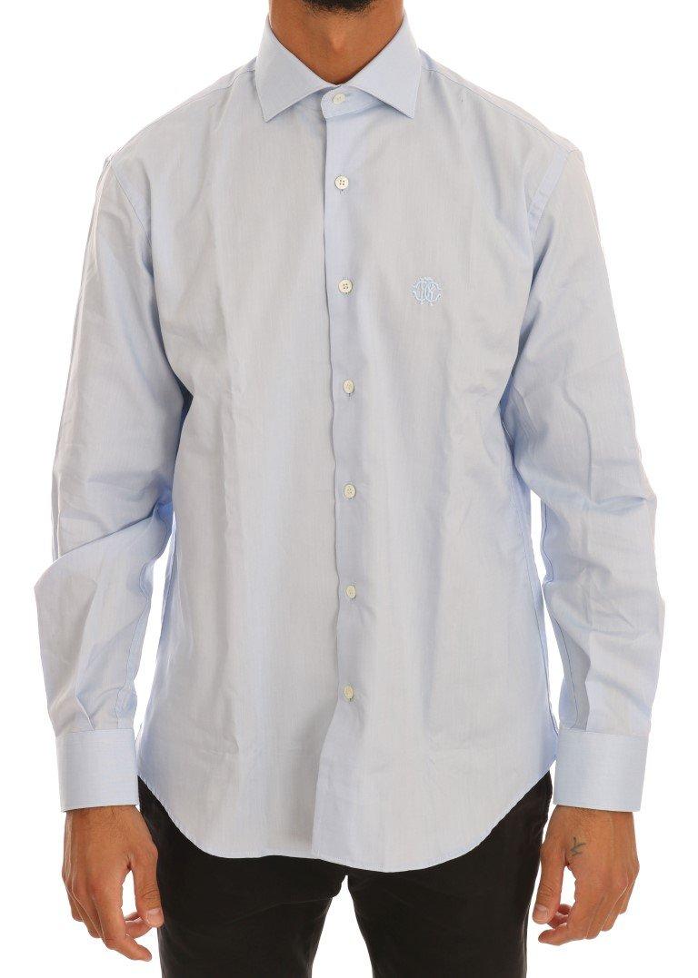 Cavalli Men's Shirt Blue TSH1486 - 39
