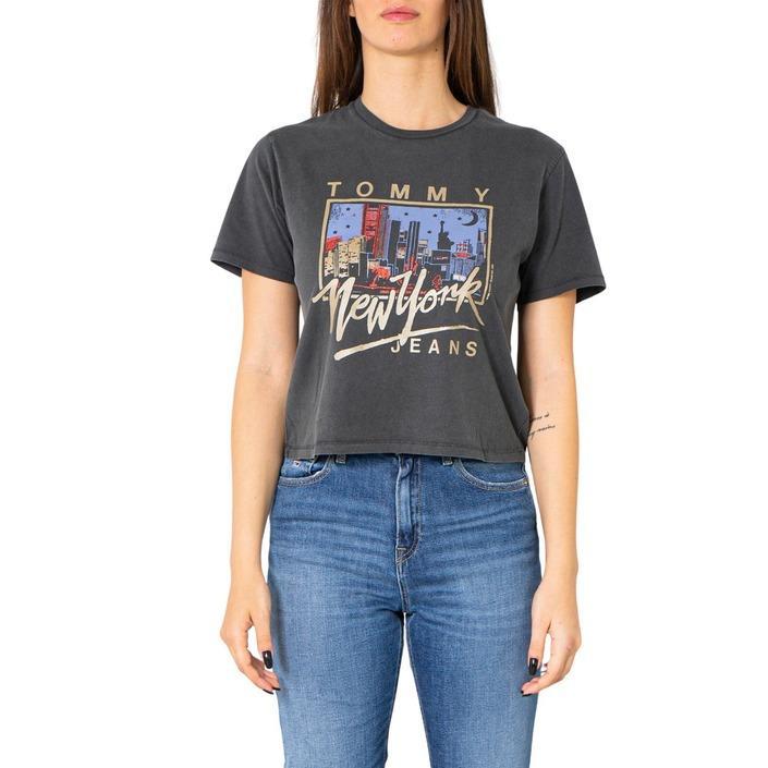 Tommy Hilfiger Jeans Women's T-Shirt Black 252210 - black L