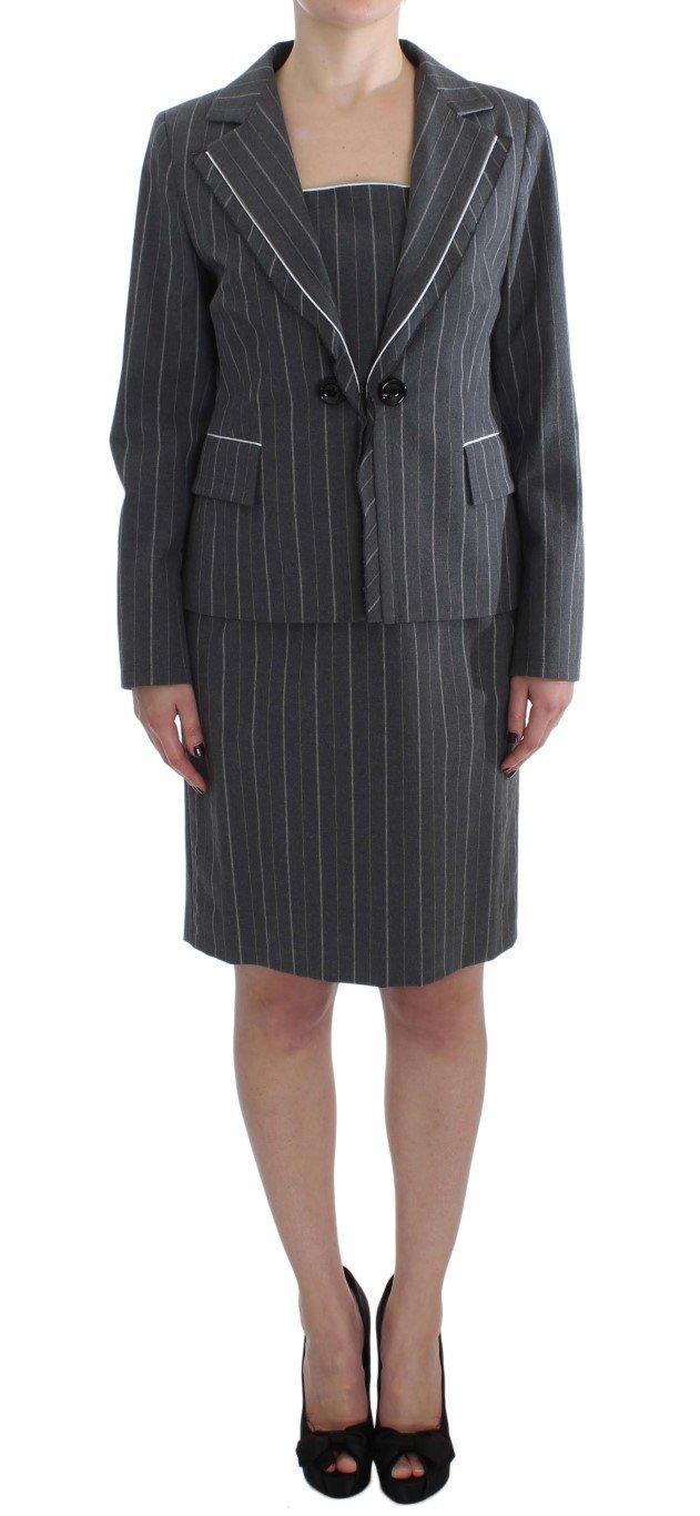 BENCIVENGA Women's Stretch Suit Sheath Dress & Blazer Gray SIG32487 - XXL