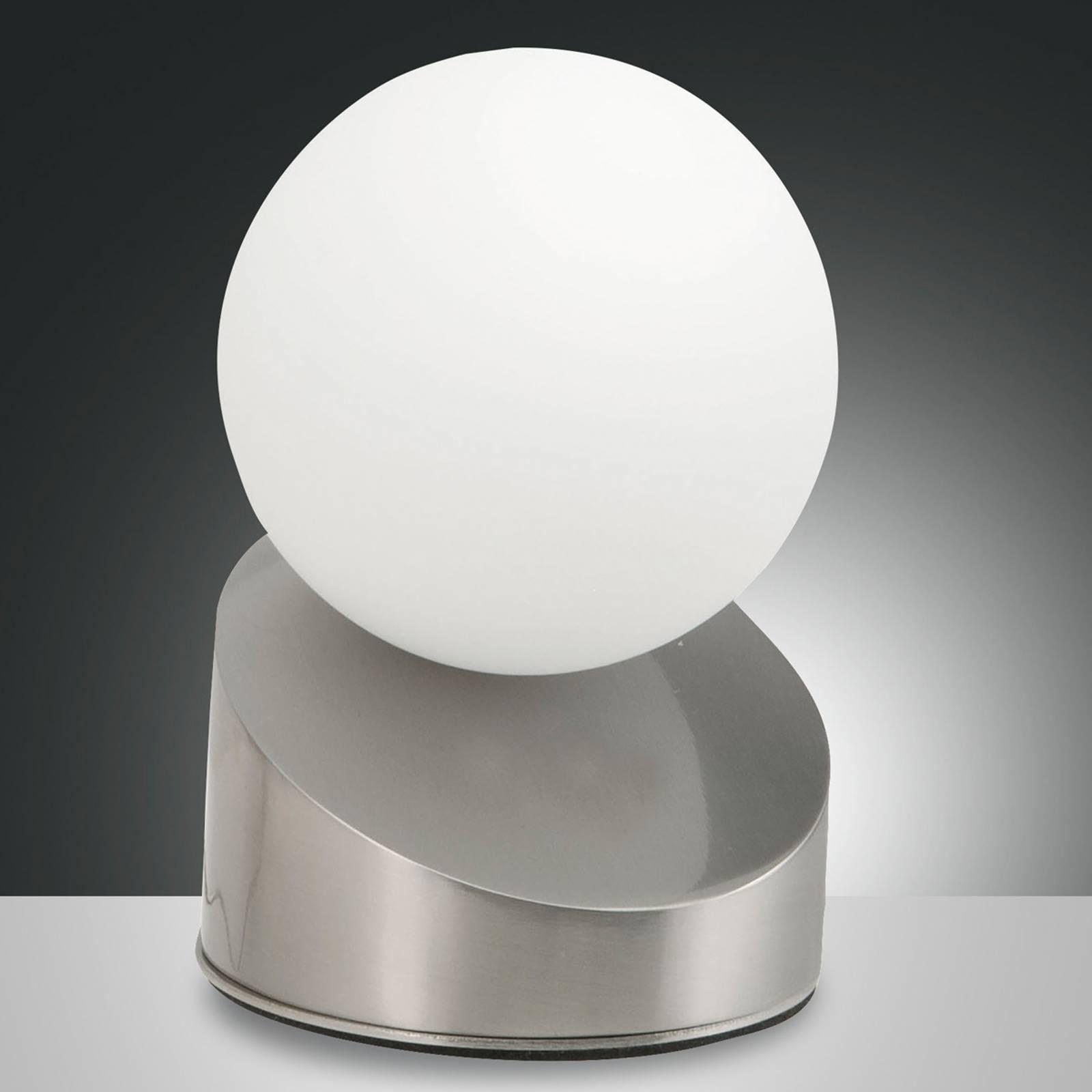 Kaunis Gravity-LED-pöytävalaisin, nikkelinvärinen