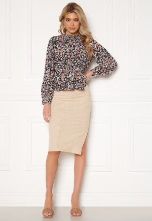 ONLY Nella Slit Skirt Pumice Stone XL