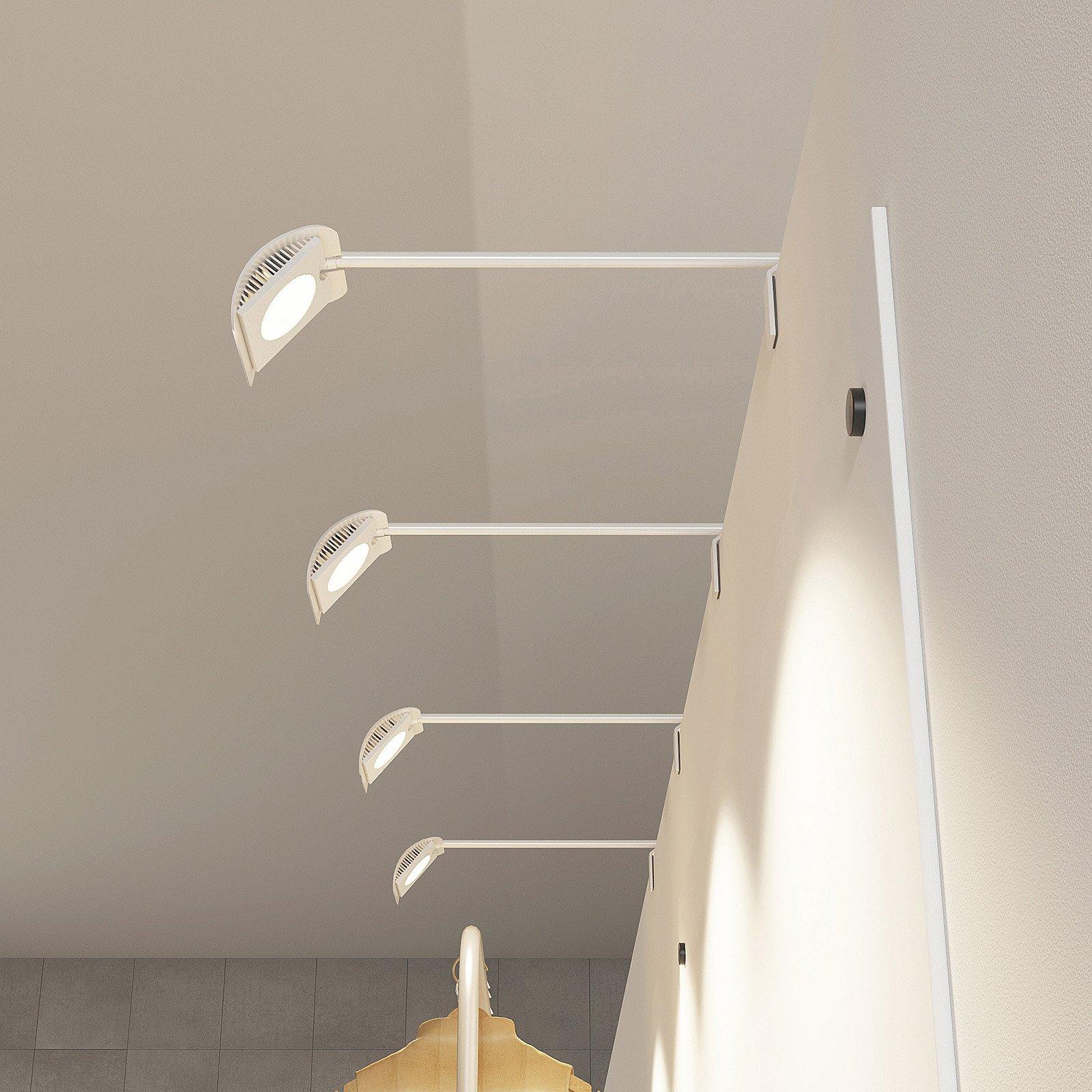 Arcchio Macey LED-klemmelampe, hvit