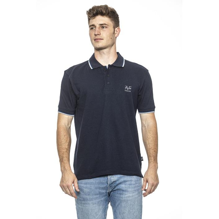 19v69 Italia Men's Polo Shirt Blue 185483 - blue M
