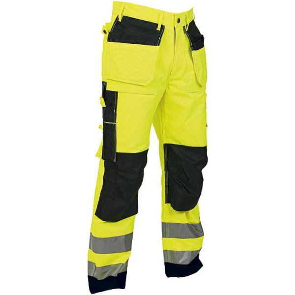Vidar Workwear V500115C044 Håndverksbukse gul/svart C44