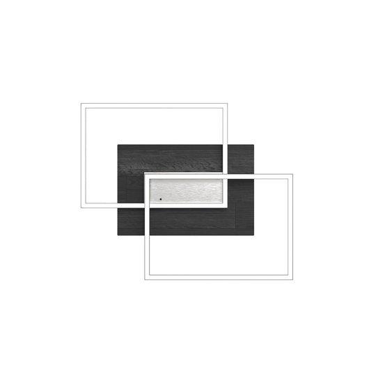LED-taklampe Panama S, eik svart