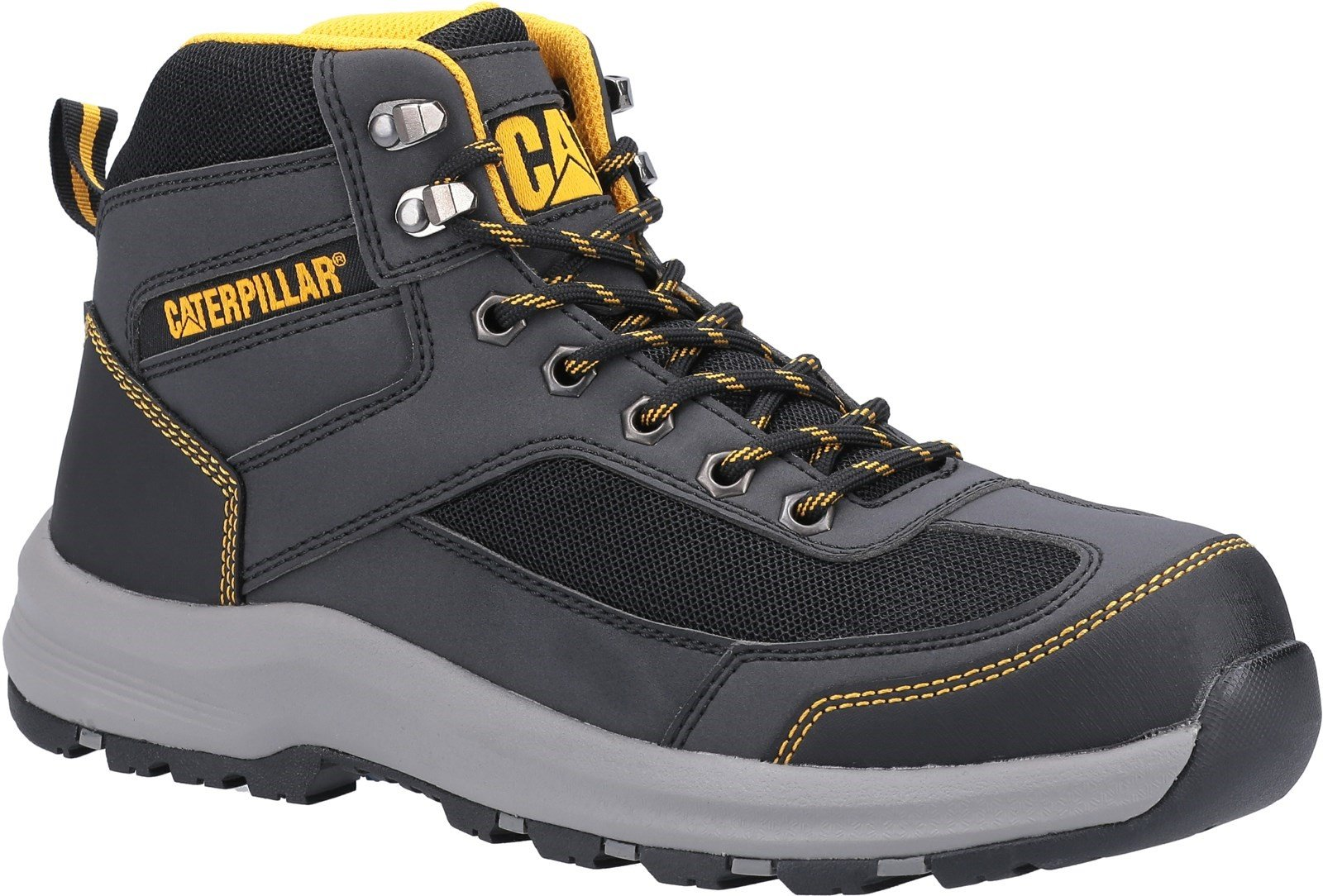 Caterpillar Unisex Elmore Mid Safety Hiker Boot Various Colours - Grey 6