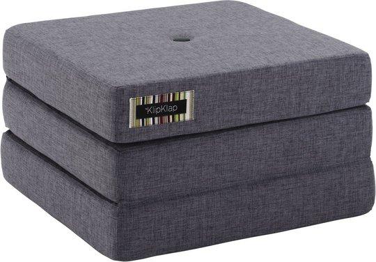 KlipKlap 3 Fold Single Madrass, Mørkegrå