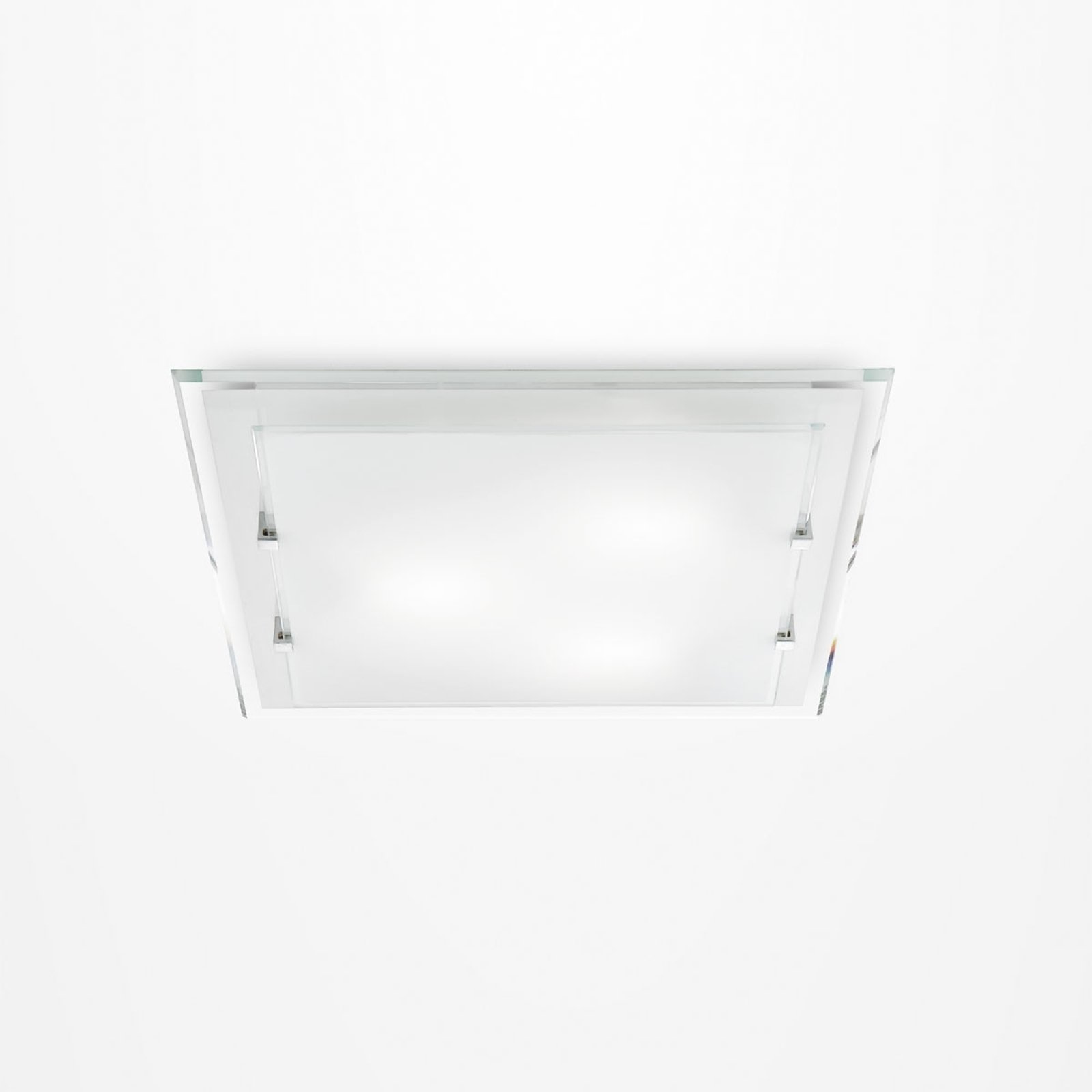 Kantet taklampe Victoria, 30 cm x 30 cm