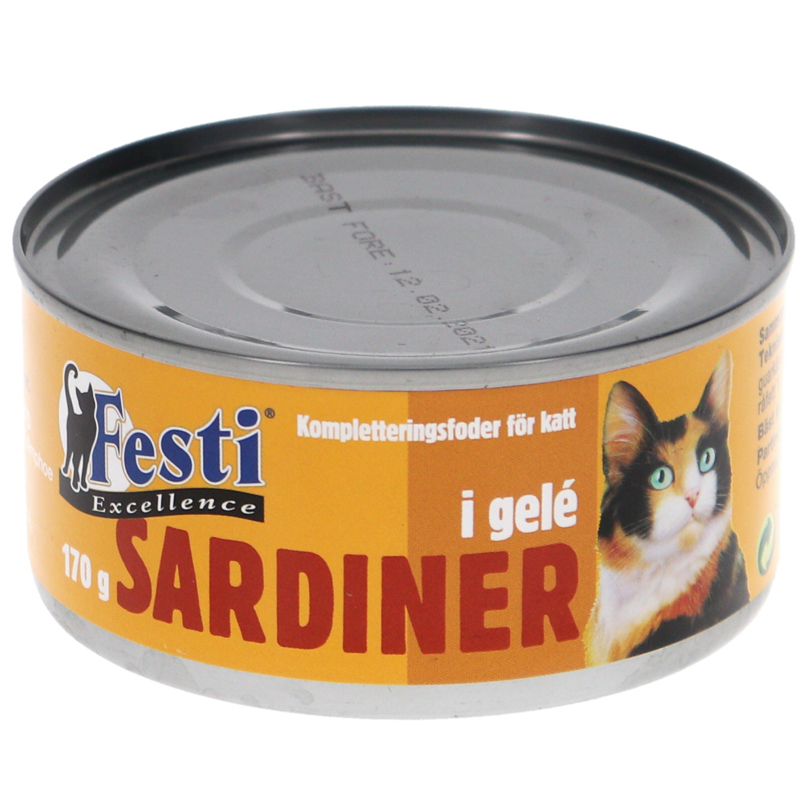 Kattmat Sardiner gelé - 33% rabatt