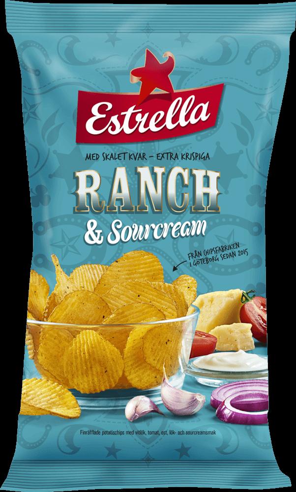 Estrella Ranch & Sourcream 175g