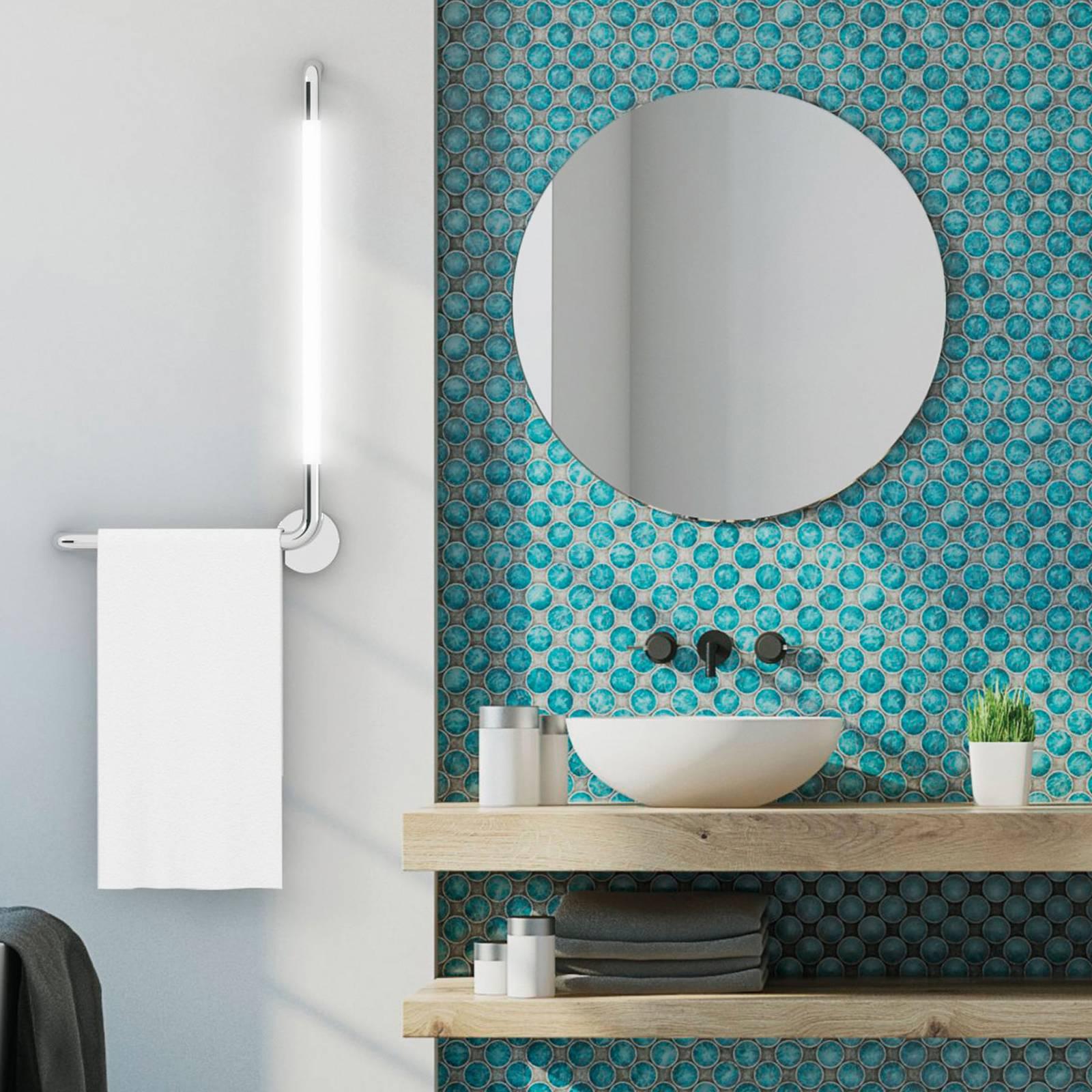 Kylpyhuoneen LED-seinälamppu Tubus, vasen