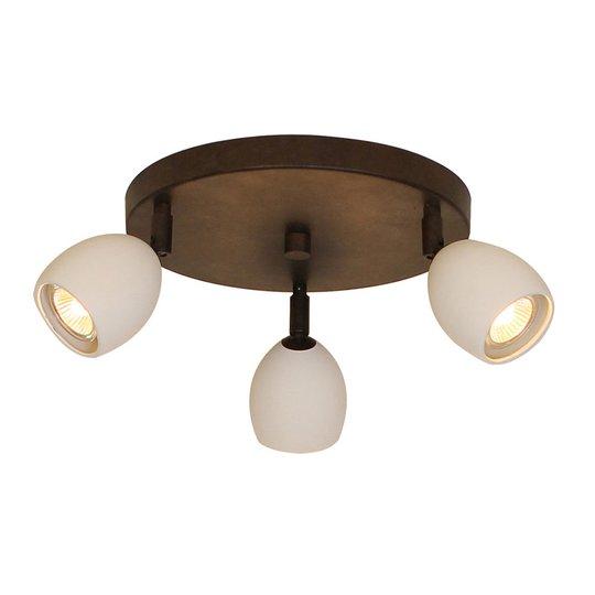 Menzel Provence matt taklampe 3 lyskilder rund