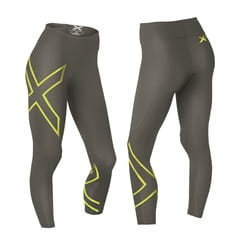 2Xu Mid-Rise Compression Tights-W Slate/Lime