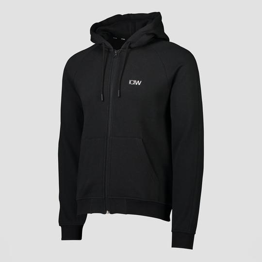 Essential Zipper Hoodie, Black