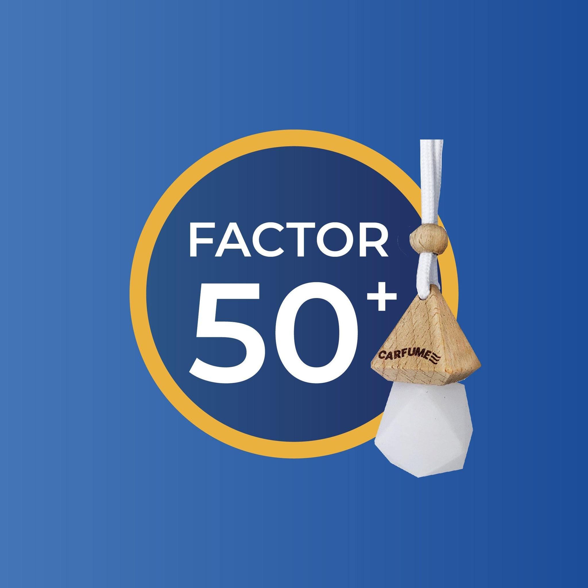 Factor 50   Suncream Car Fragrance
