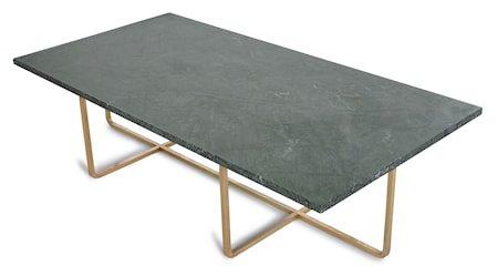 Ninety Table XL - Grønn marmor/messingstomme H40 cm