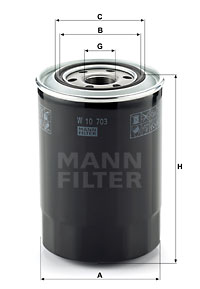 Öljynsuodatin MANN-FILTER W 10 703