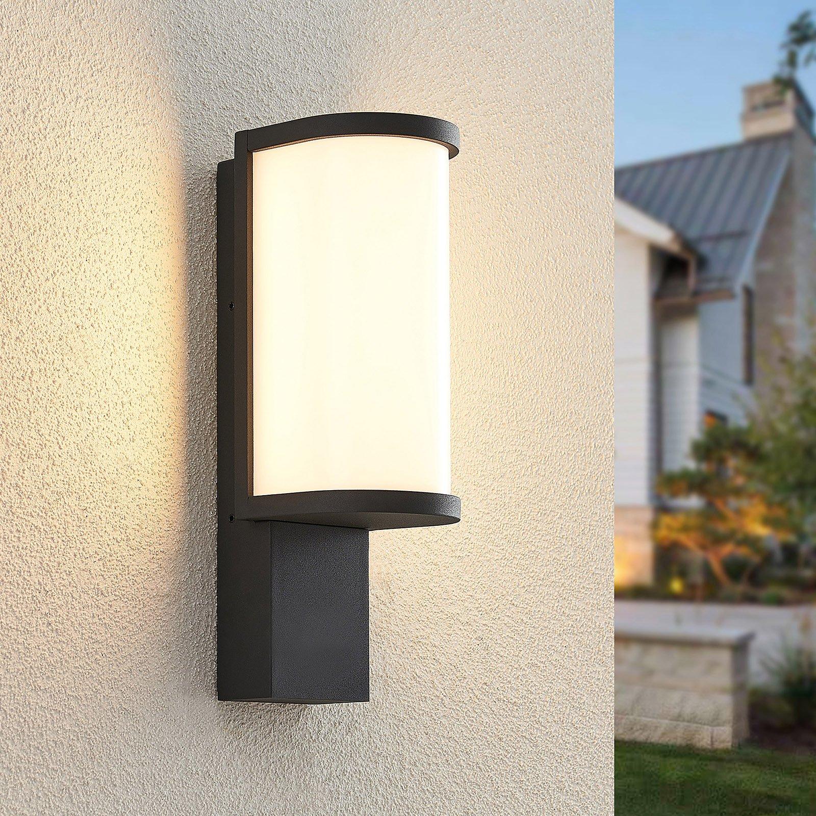 Lucande Jokum utendørs LED-vegglampe, IP65