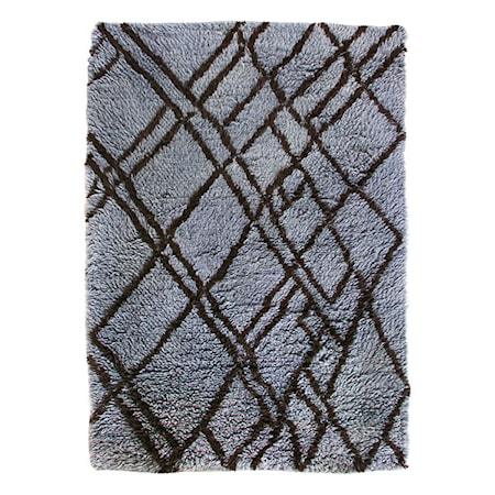 Woolen berber Matta Grey/Blue 180x280 cm