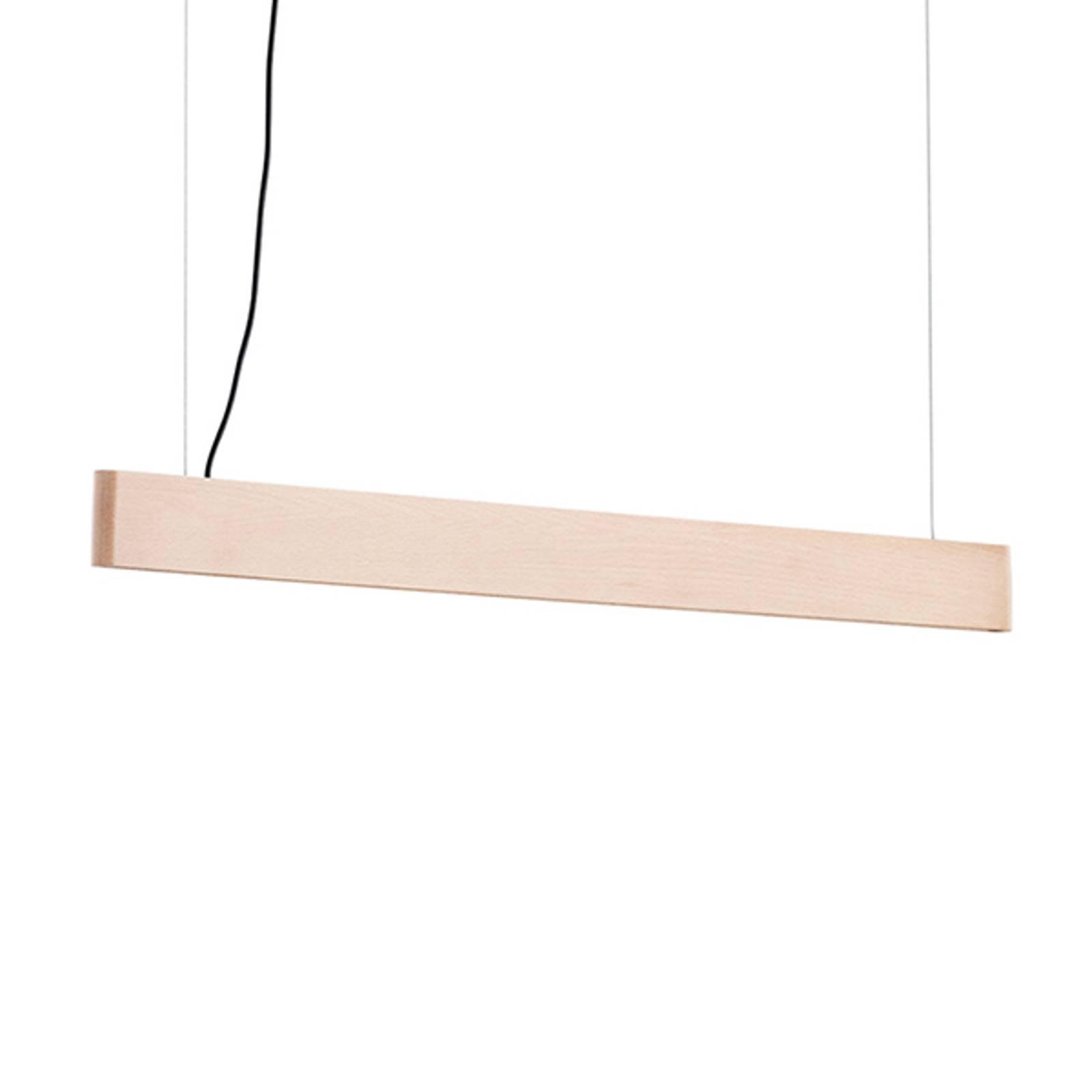 LED-riippuvalaisin Abbon, varjostin pyökkiä, 90 cm