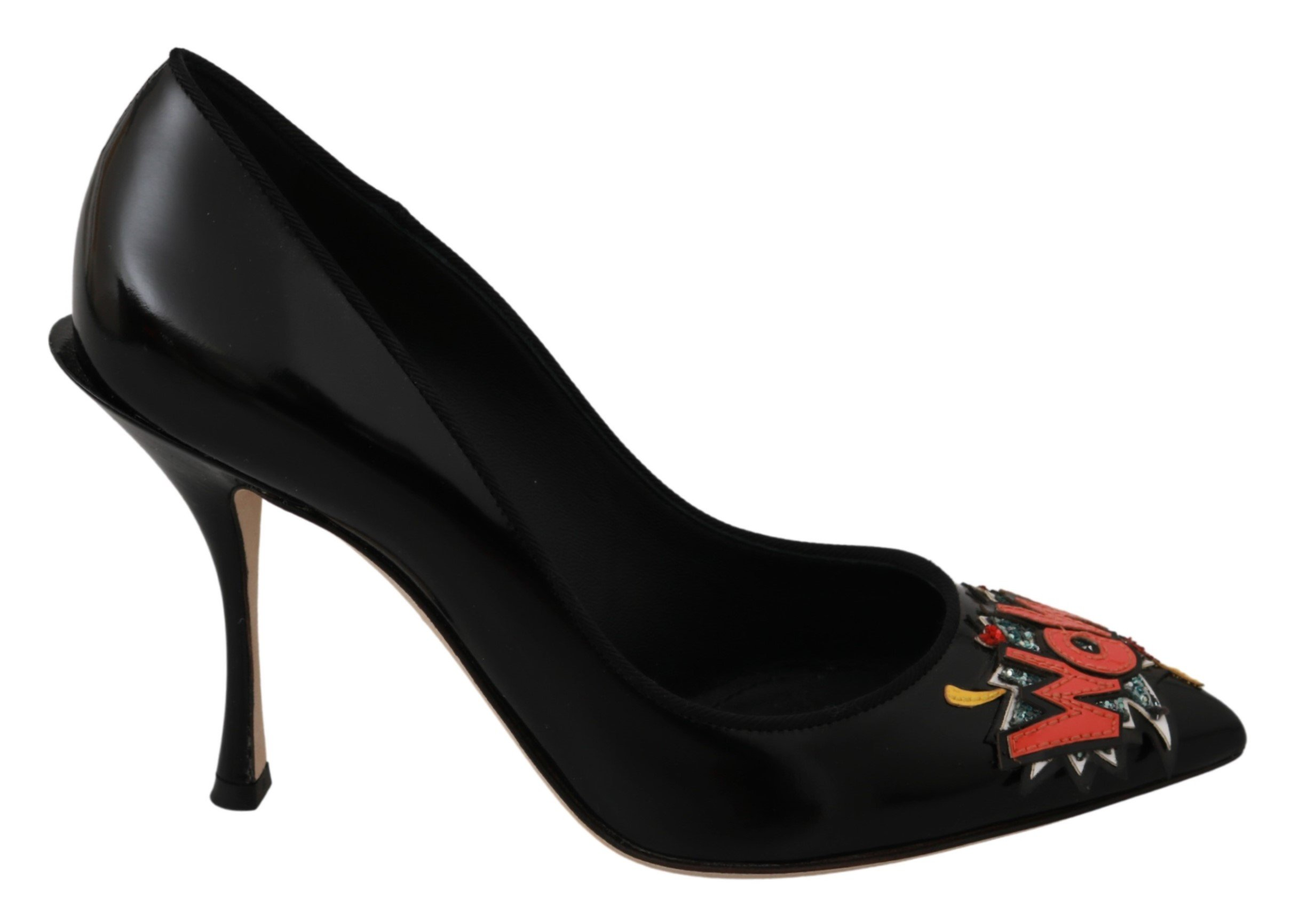 Dolce & Gabbana Women's Leather Pumps Shoe Black LA6459 - EU35/US4.5