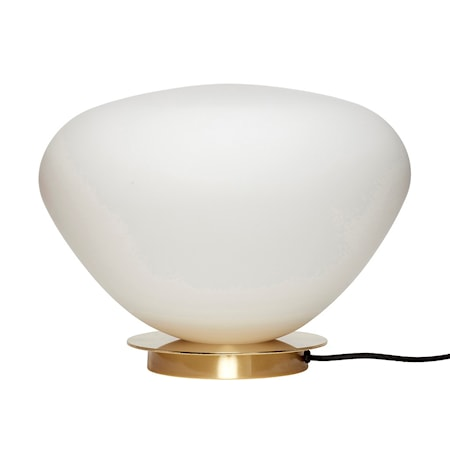 Bordslampa Glas Vit 39cm