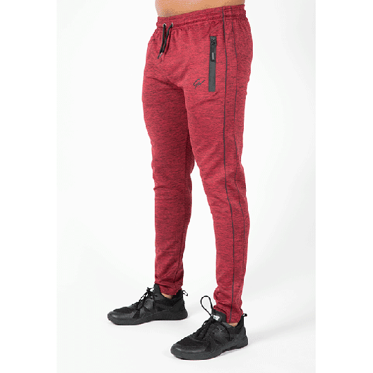 Wenden Track Pants, Burgundy red