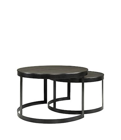 ALANSO coffee table 2-set black alu/iron