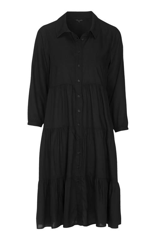 Happy Holly Skjortklänning Elsie Svart