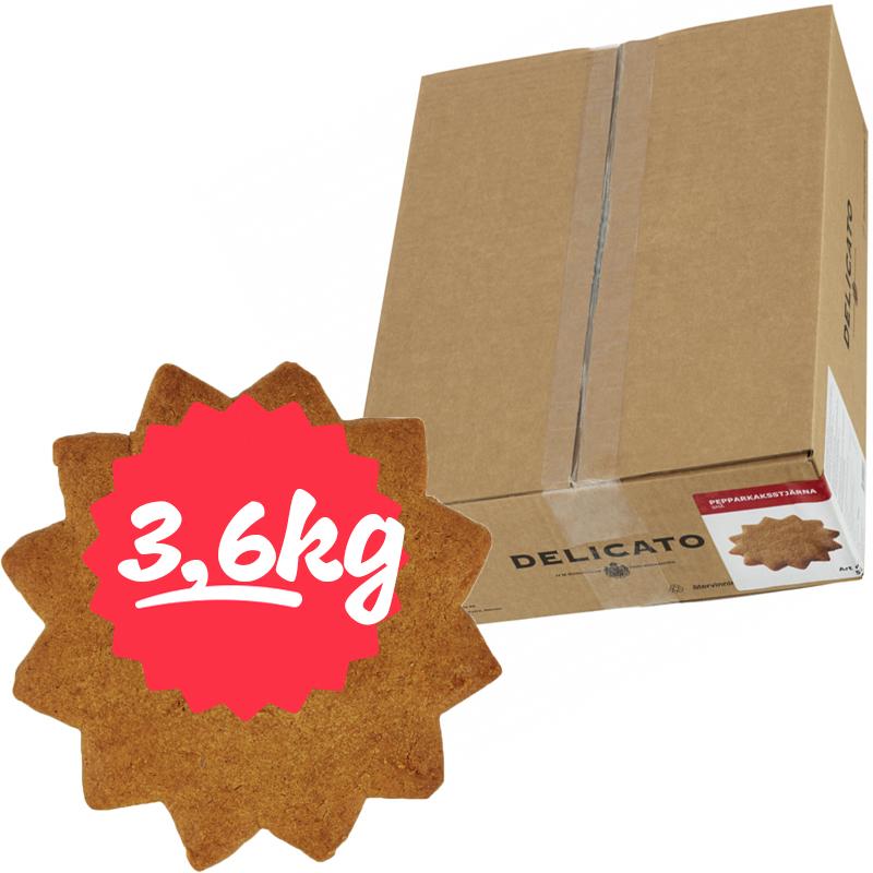 Hel Låda Pepparkaksstjärnor 3,6kg - 60% rabatt