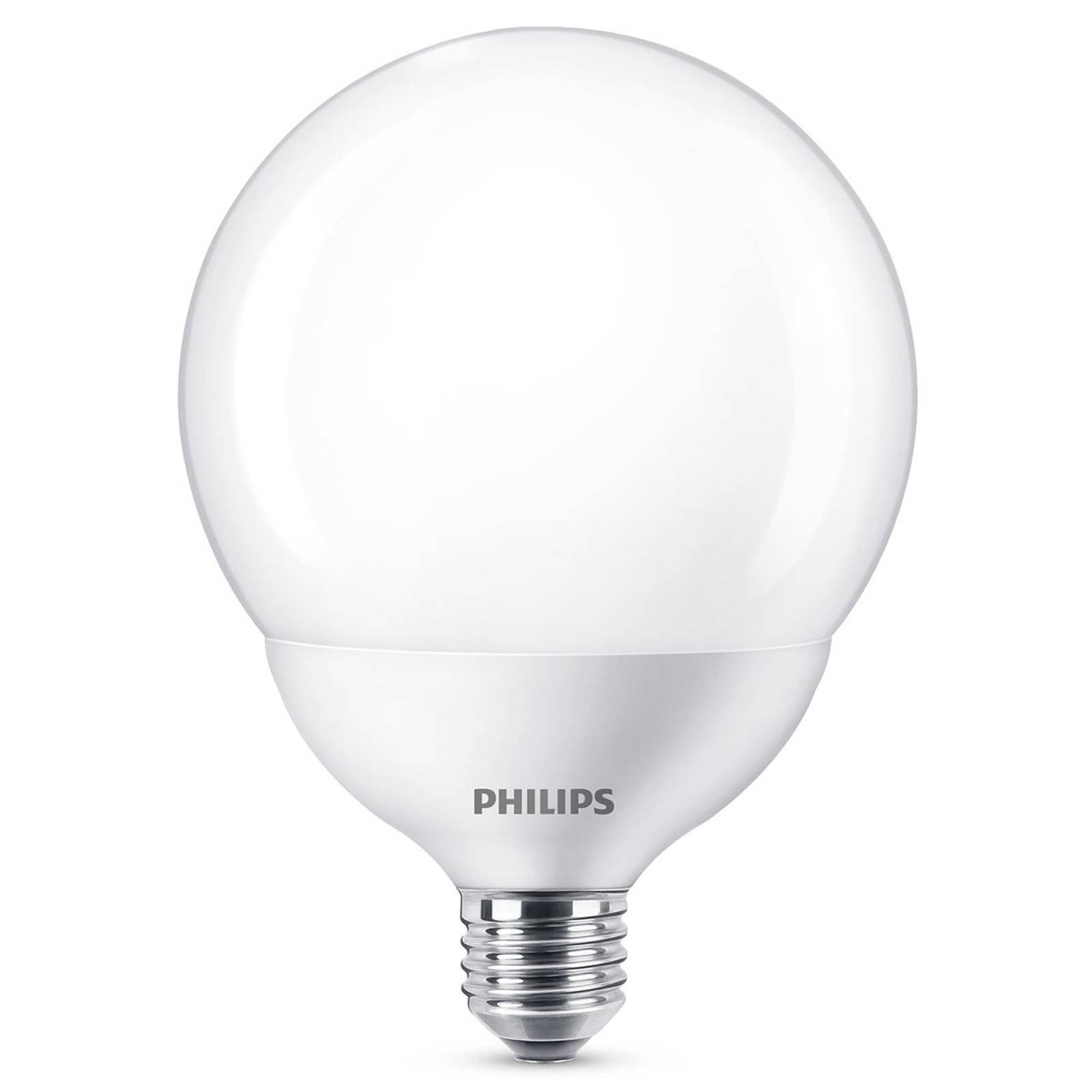 Philips LED-globepære E27 G120 10,5W 2 700K hvitt