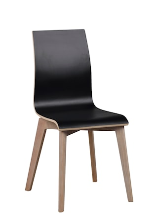 Gracy stol svart laminat/vitpigmenterad ek