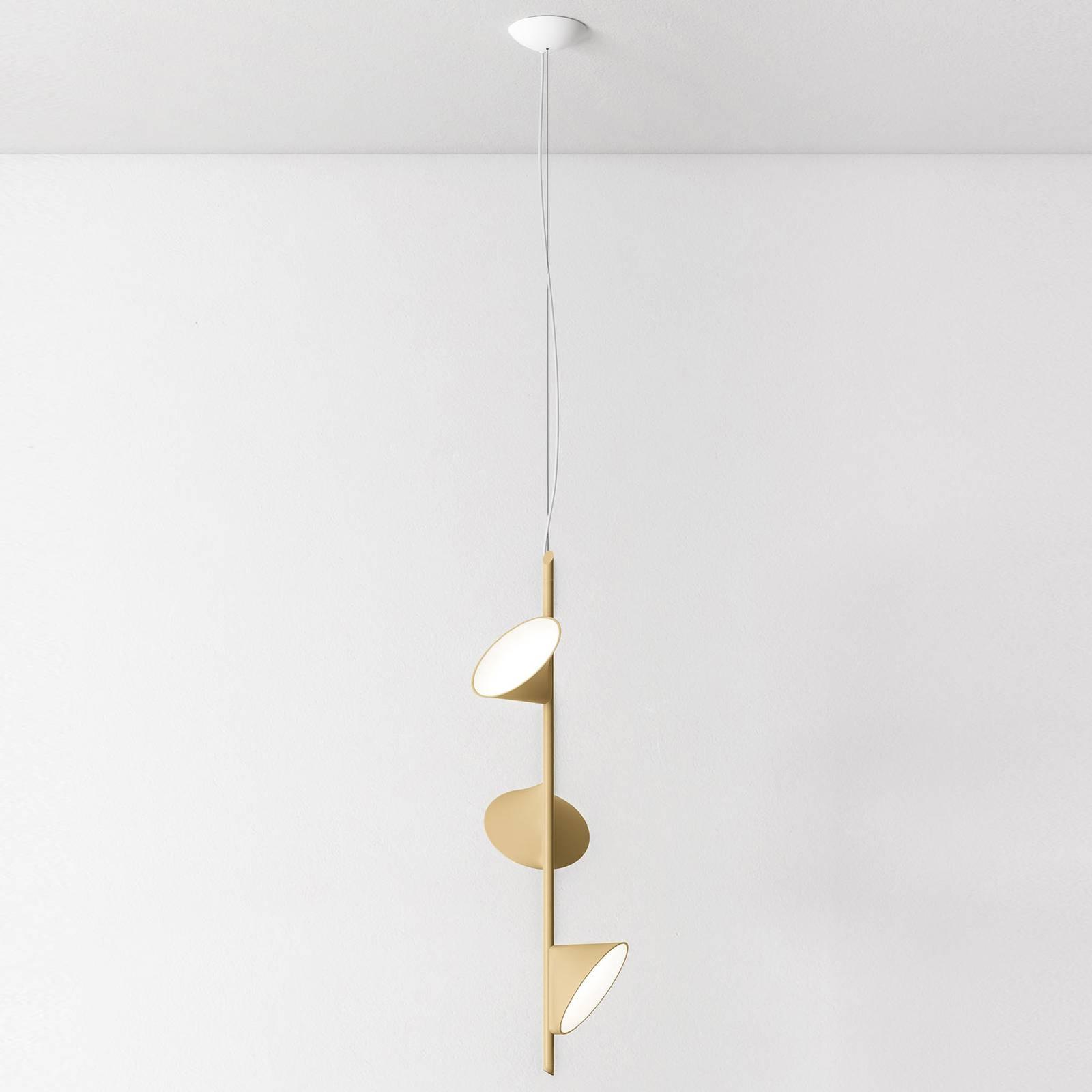 Axolight Orchid LED-riippulamppu 3 lampp. hiekka