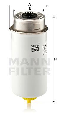 Polttoainesuodatin MANN-FILTER WK 8158