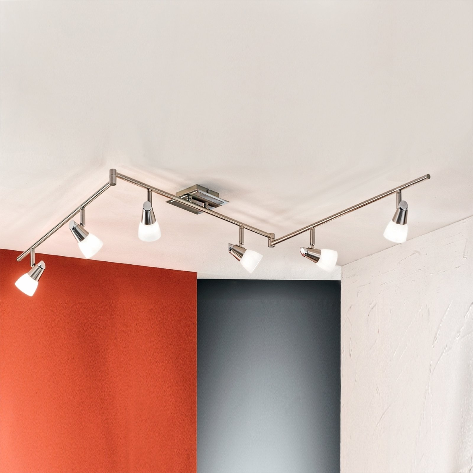 Fleksibel MIRTEL taklampe med seks lys