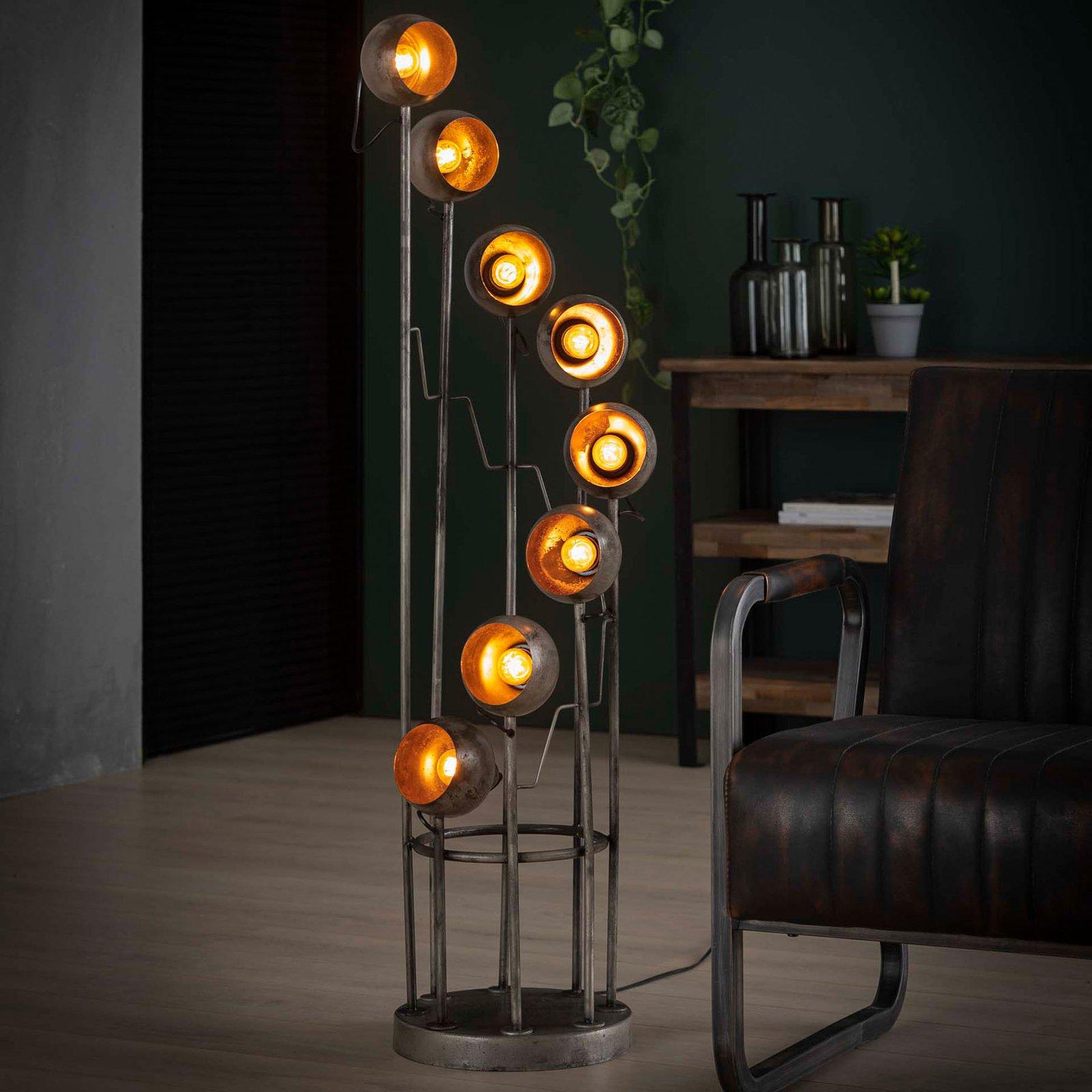 Gulvlampe Spiralamp, åtte lyskilder