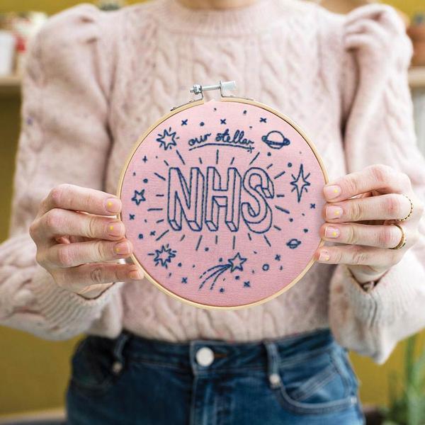 Our Stellar NHS Pink Embroidery Hoop Kit