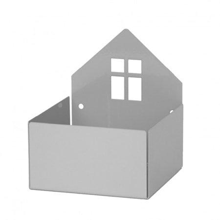 Oppbevaringsboks Hus, Grå, Roommate