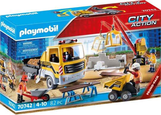 Playmobil 70742 Byggearbeidsplass med Anleggsbil